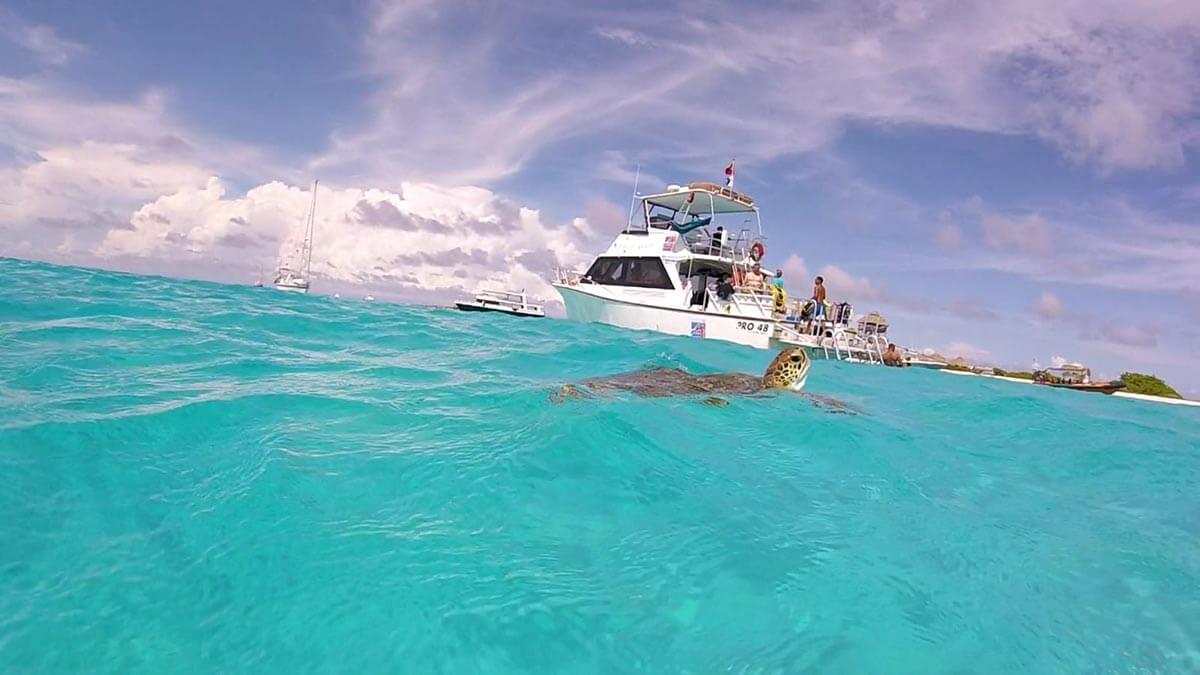 The uninhabited island of Klein Curaçao lies 15 miles east of the main island.