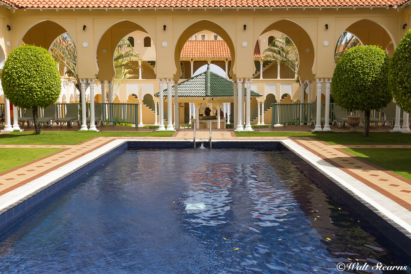 The courtyard pool at the Wellness Center is one of three at BodyHoliday.