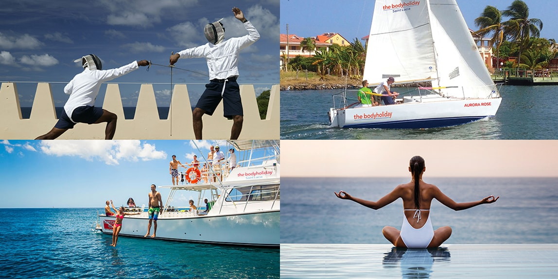 Fencing lessons, sailing trips, dive and snorkel excursions and yoga on the beach. All this and more are included with each visit to BodyHoliday.