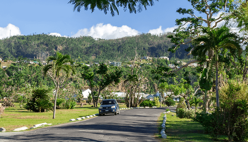 The streets of Dominica's capital, Roseau, are once again shrouded in green.