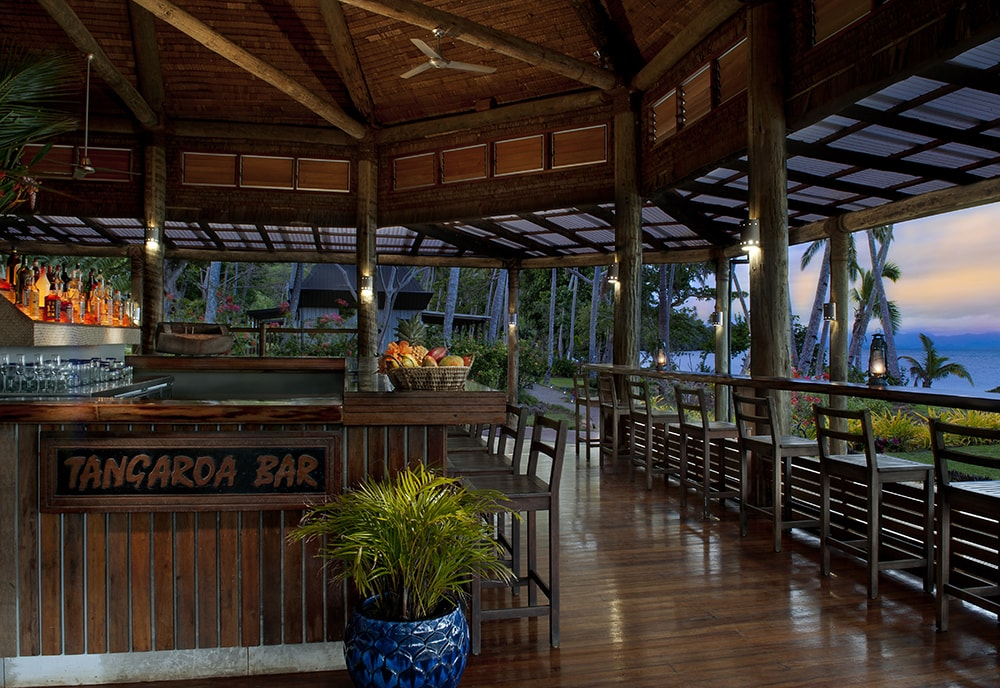 At the end of the day, the resort's Tangaroa Bar is a favorite place to gather and relive adventures.