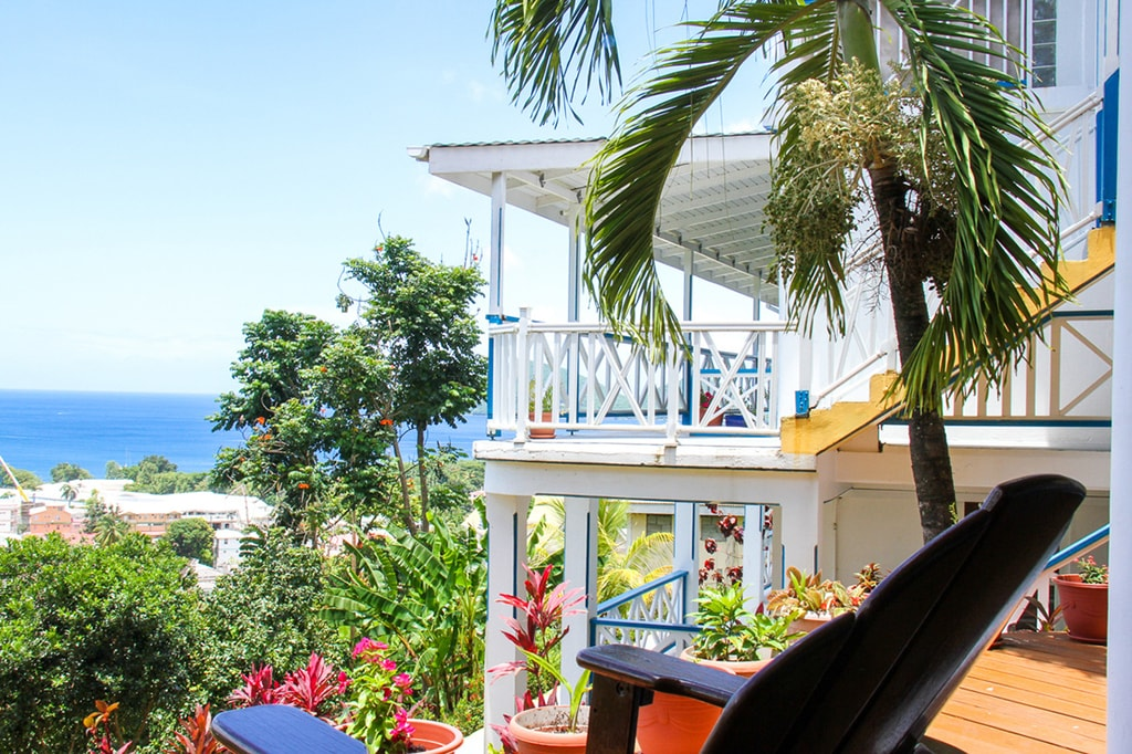 Terraces provide sweeping views of the Caribbean and are a favorite place to relax after a day of island adventures or diving.