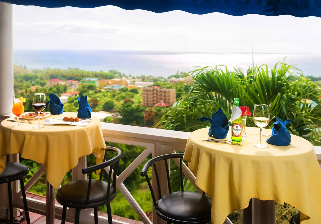 Restaurant & Pizzeria The Champs is known as one of Dominica's favorite restaurants, both for the food and views.