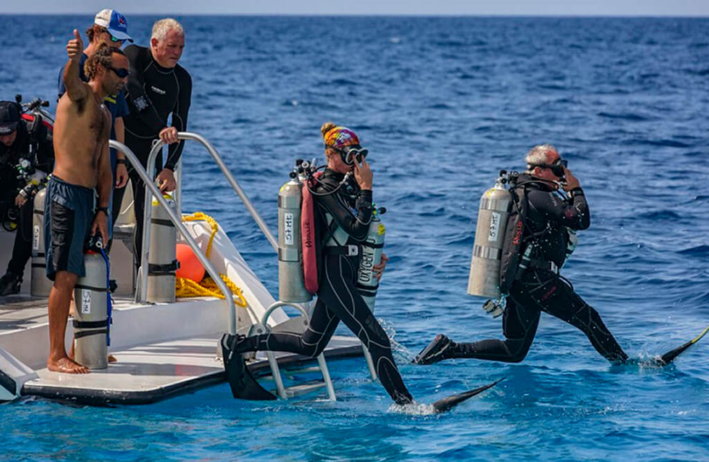 The calm waters of Bonaire are ideal for learning to manage the additional equipment of technical diving.