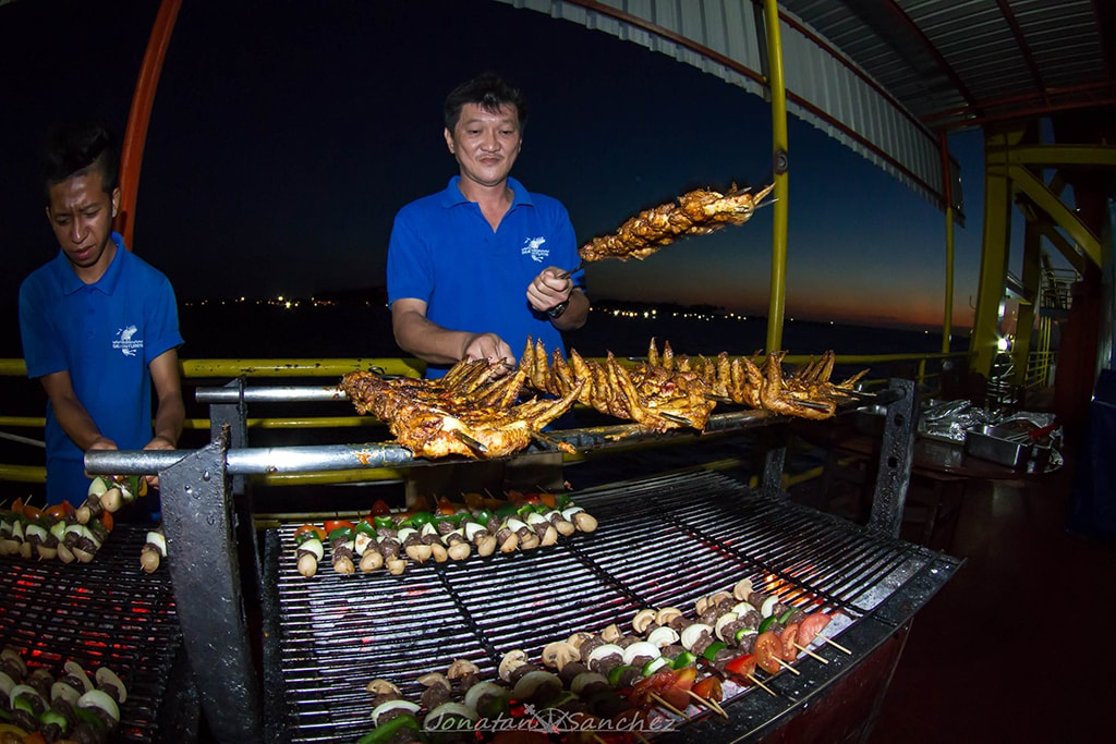 BBQ nights are a guest favorite on the SeaVenture.