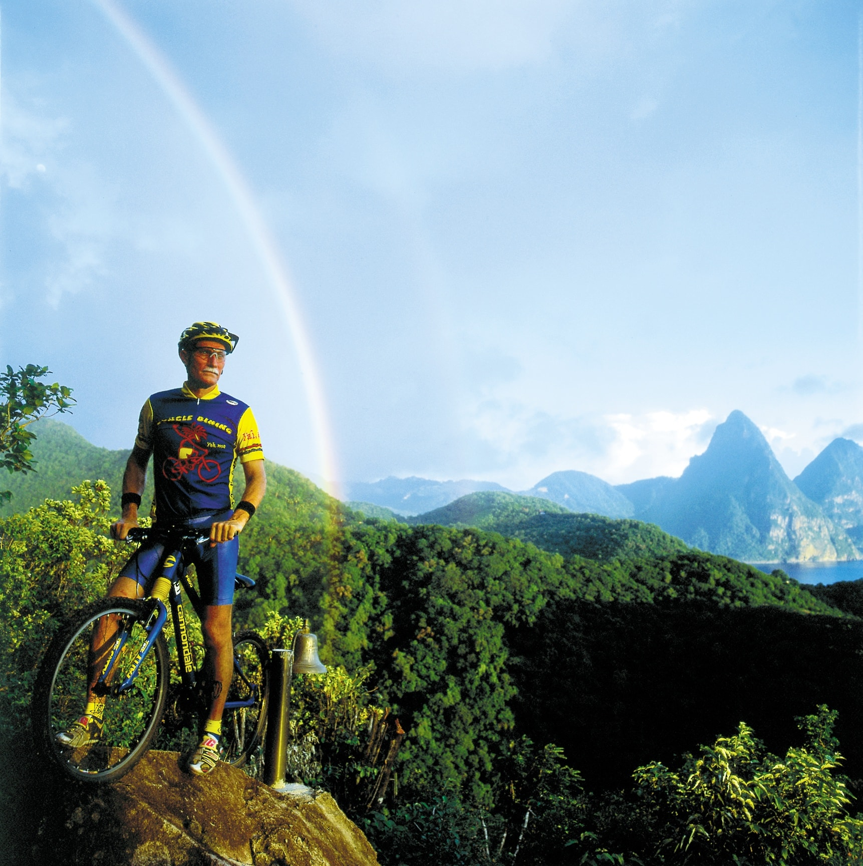 Hikers and riders can opt for challenging climbs that lead to some of St. Lucia's most scenic overlooks