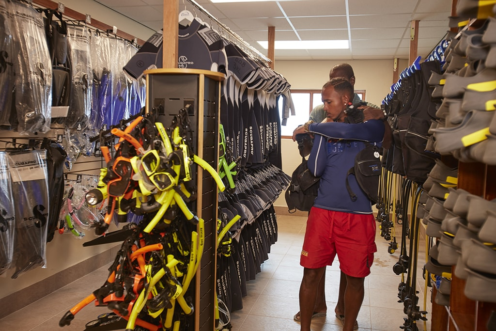 Divi Dive has an extensive gear rental department, along with one of the island's best-stocked retail centers.