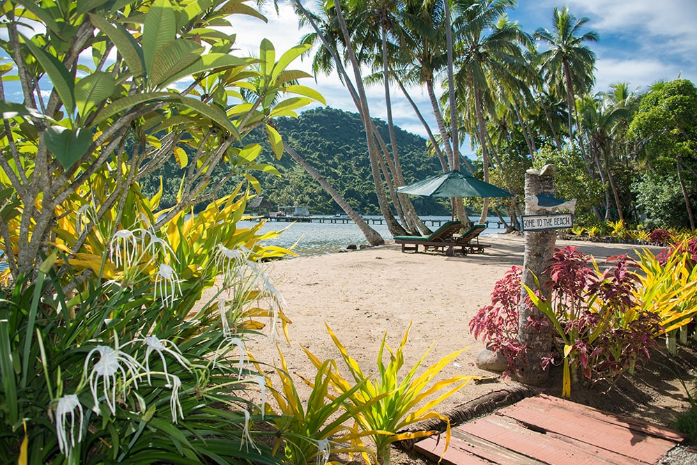 Guest can snorkel right from the beach at Lalati Resort.