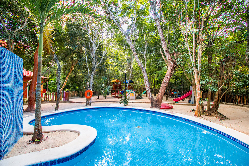 The dedicated youth pool and play area at Occidental Cozumel.