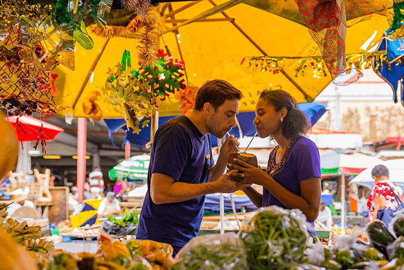 Saint Lucia's food is an incredible mix of cuisines, textures, styles such as bakes and accra from a roadside stand to a perfectly plated five course Mahi Mahi dinner.
