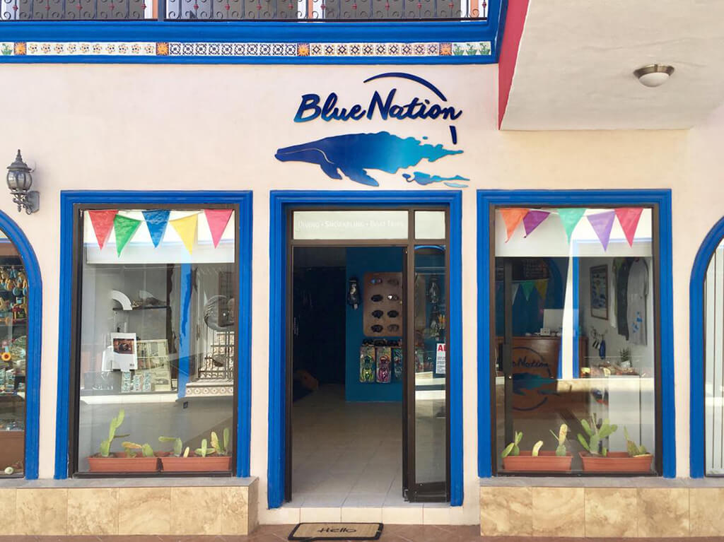 Blue Nation's dive shop offers training, retail, rental and daily boat dives.