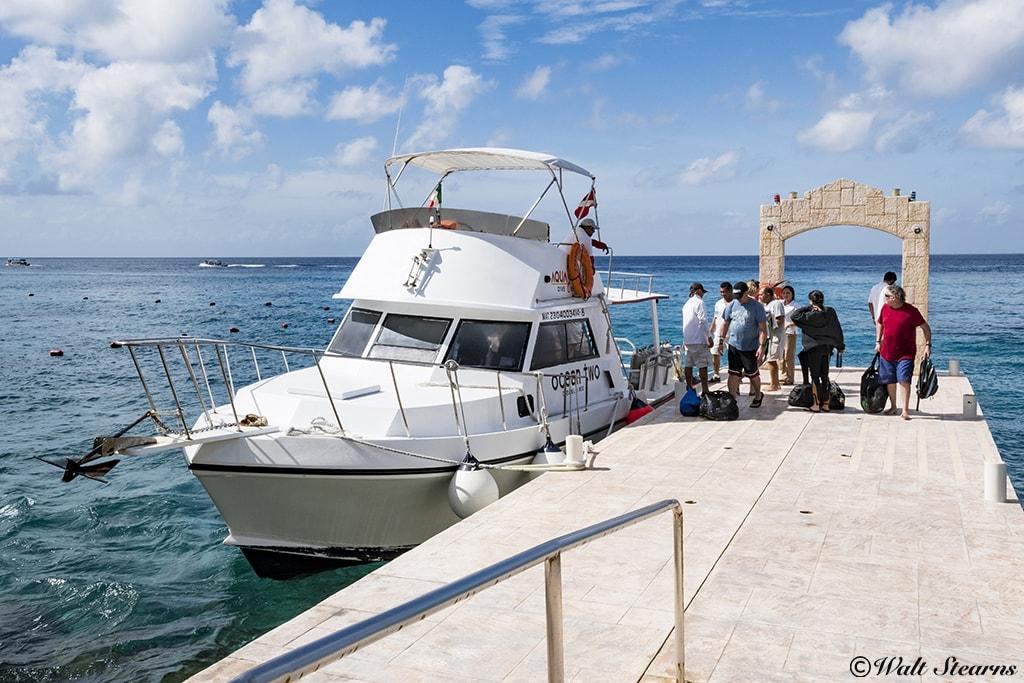 Aqua Safaris picks divers up right at the resort pier.