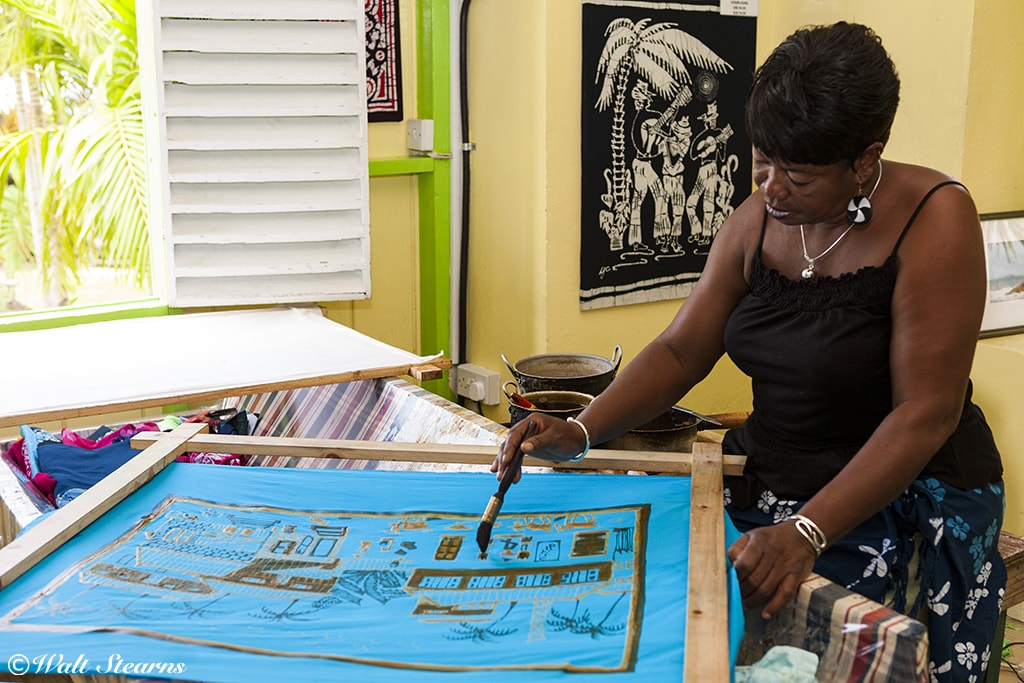Romney Manor is home to Caribelle Batik, which uses traditional techniques to create one of the Caribbean's most sought-after fabrics.