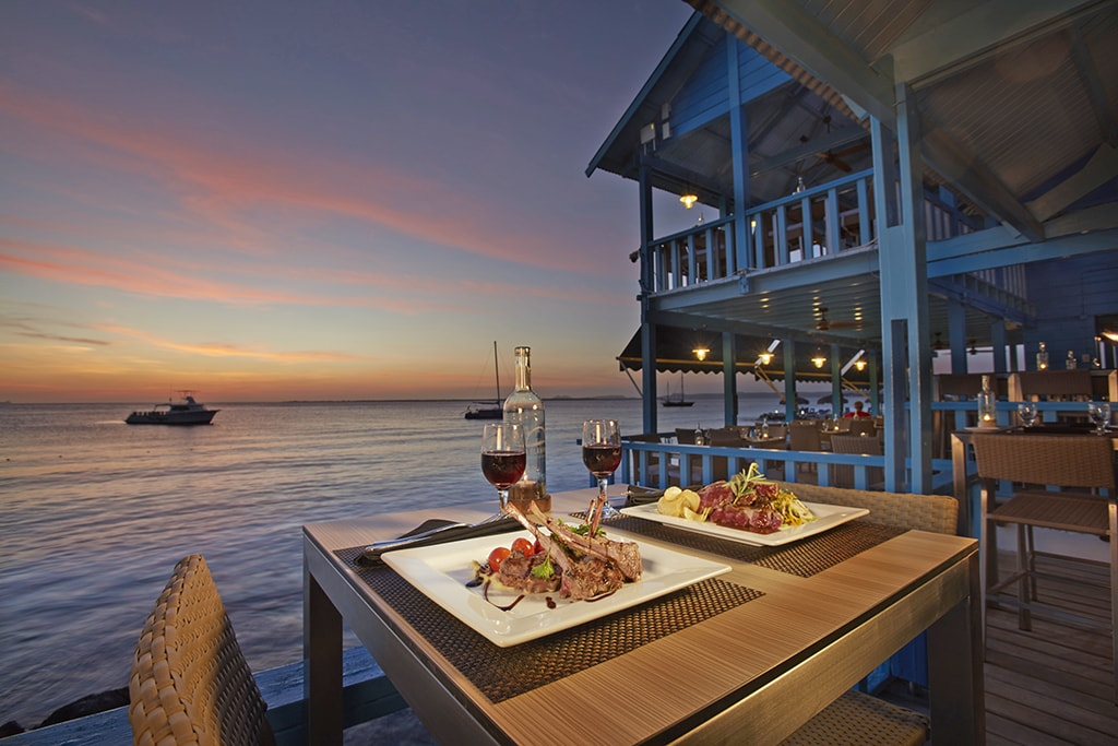 After a day on the reefs, divers can treat themselves to a premier meal at Chibi Chibi waterfront restaurant.
