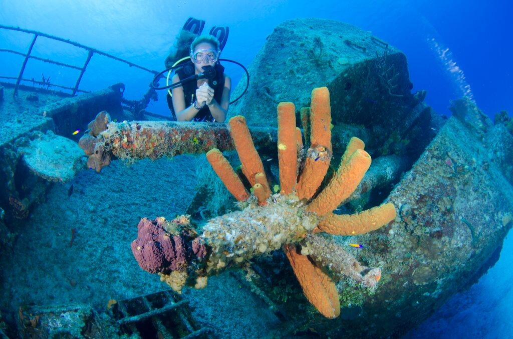 The Captain Keith Tibbett's Wreck is one of Cayman Brac's best-known dive sites.