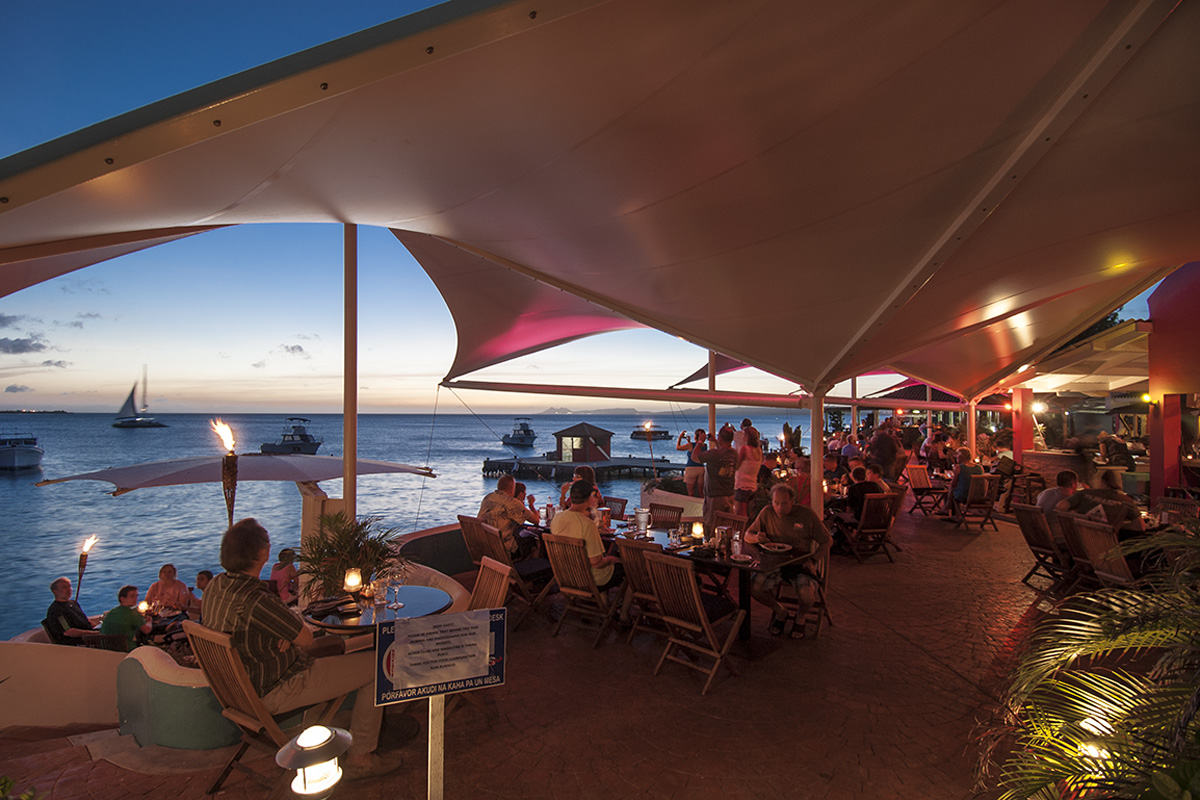 Rum Runner's Restaurant combines good food with an unmatched ocean view.