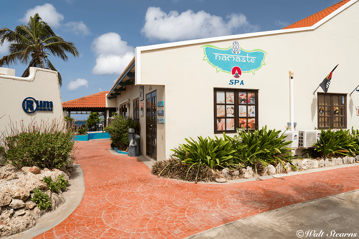 The Namaste Spa is located at Captain Don's. Also on site is the Vista Blue Boutique.
