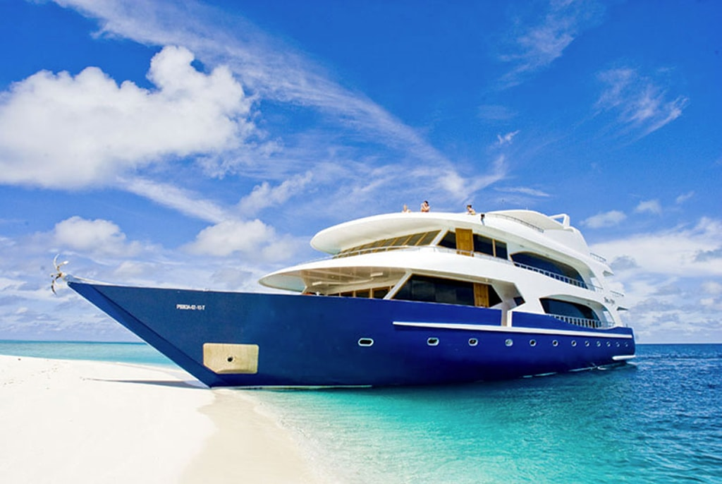 Guests aboard the Duke of York can mix diving with spa time and beach time.
