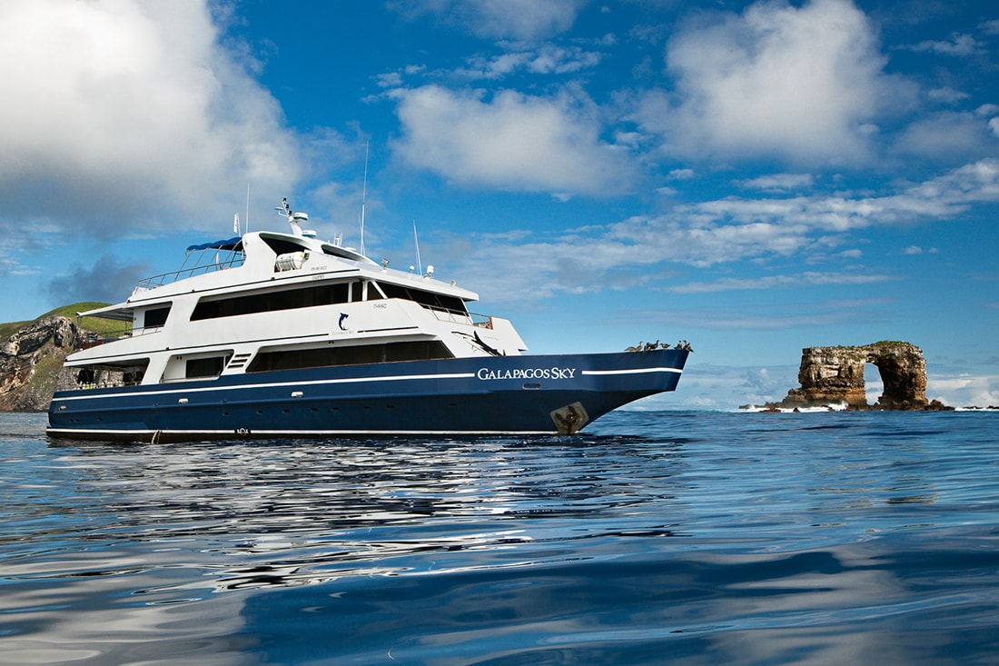 Liveaboard vessels provide the only access to more remote areas of the Galapagos such as Darwin and Wolf Islands.