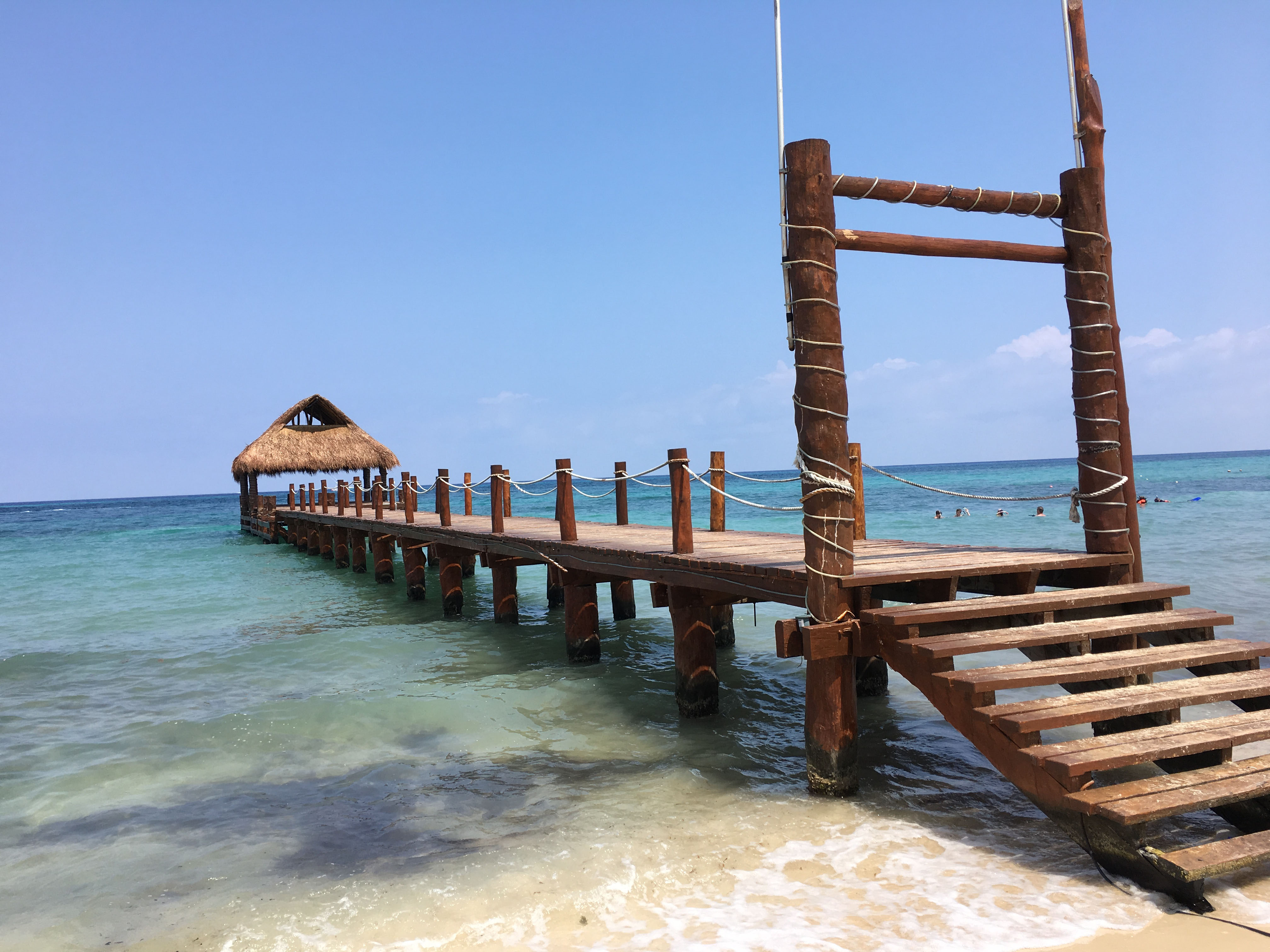The pier at Secrets Aura Cozumel