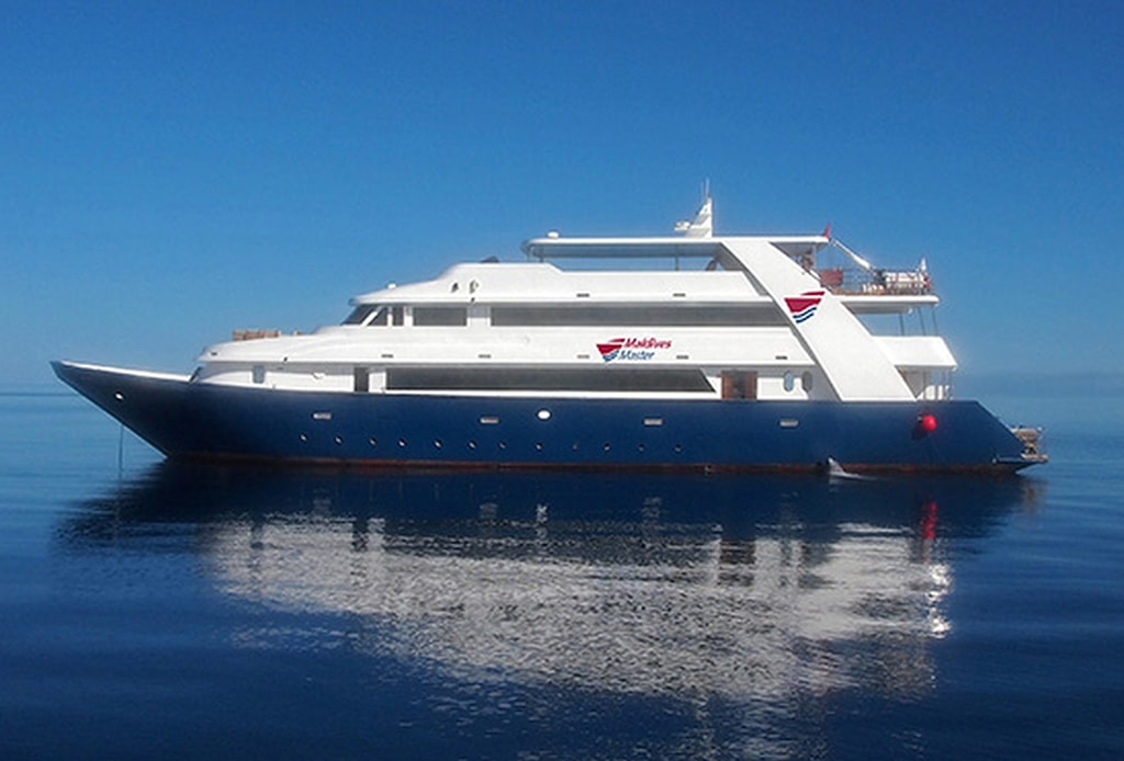 The four-deck Maldives Master provides guests with a number of spaces for onboard relaxation.
