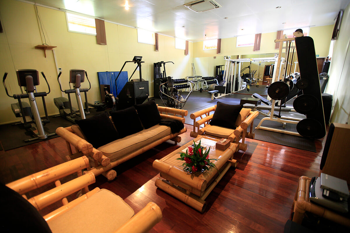 If fitness if your thing you can enjoy a full-equipped fitness center full of all the amenities you need to get ripped in paradise.