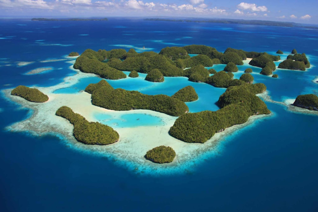 Palau's Rock Islands are recognized as a UNESCO World Heritage site.