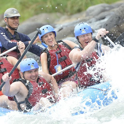 Class 3-4 White Water rafting on the Sarapiqui River