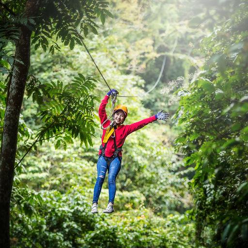 Ziplining in Honduras