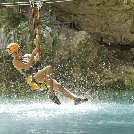 Ziplining in Riviera Maya