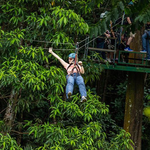 Ziplining in St. Lucia