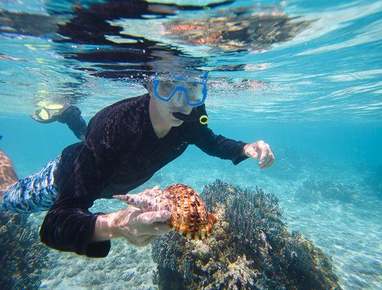 Snorkeling in Micronesia