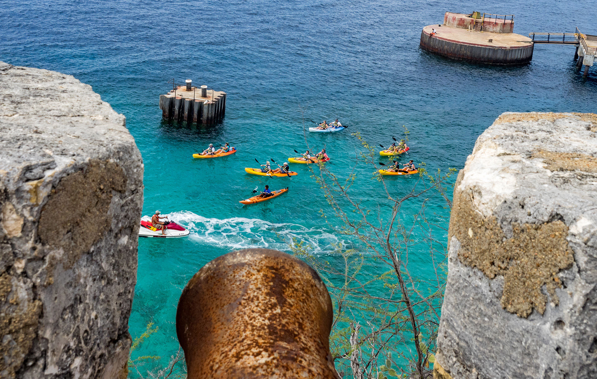 Kayaking in Curacao