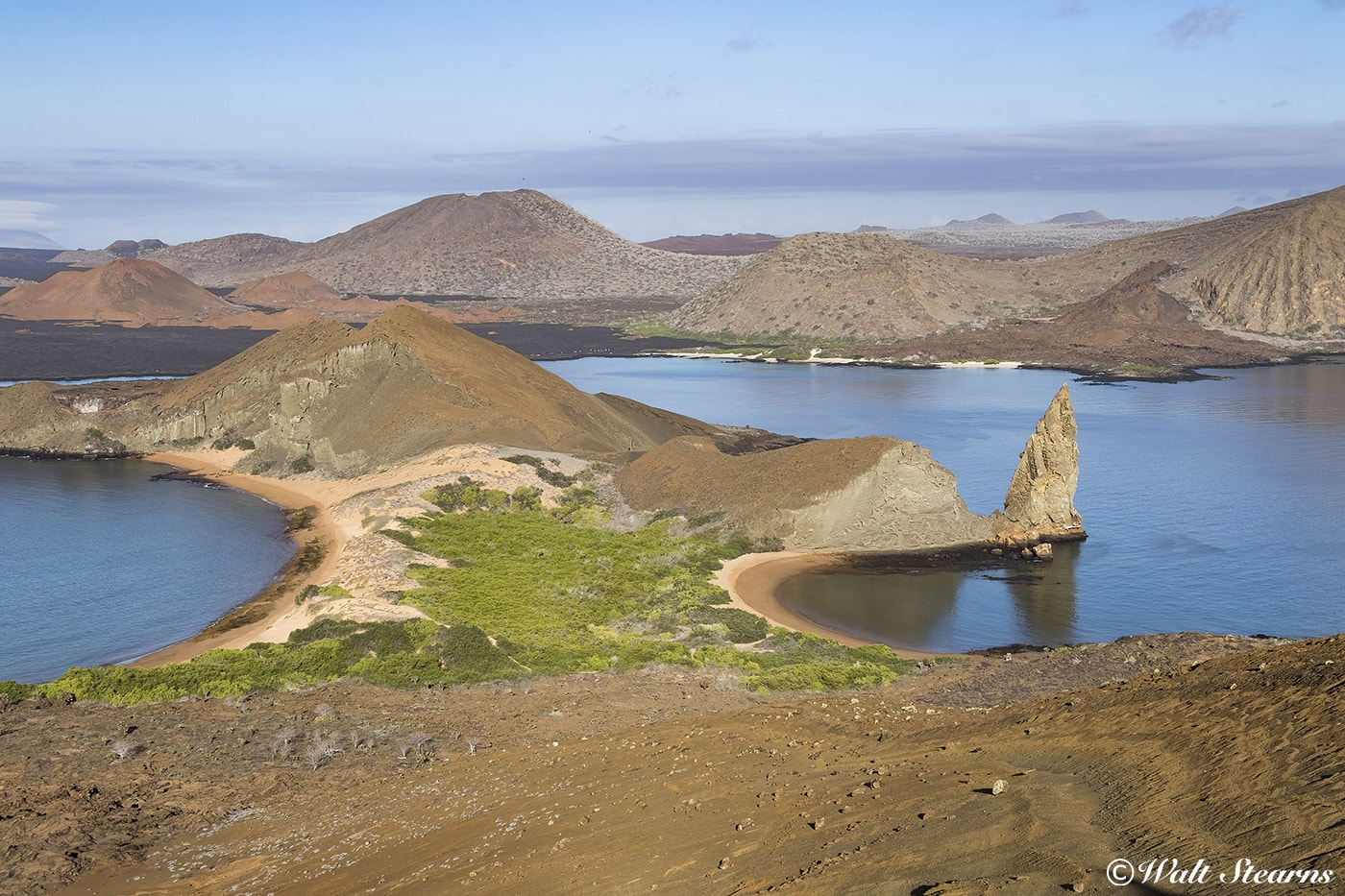 The volcanic slopes of Bartolome Island make for dramatic landscape photos.