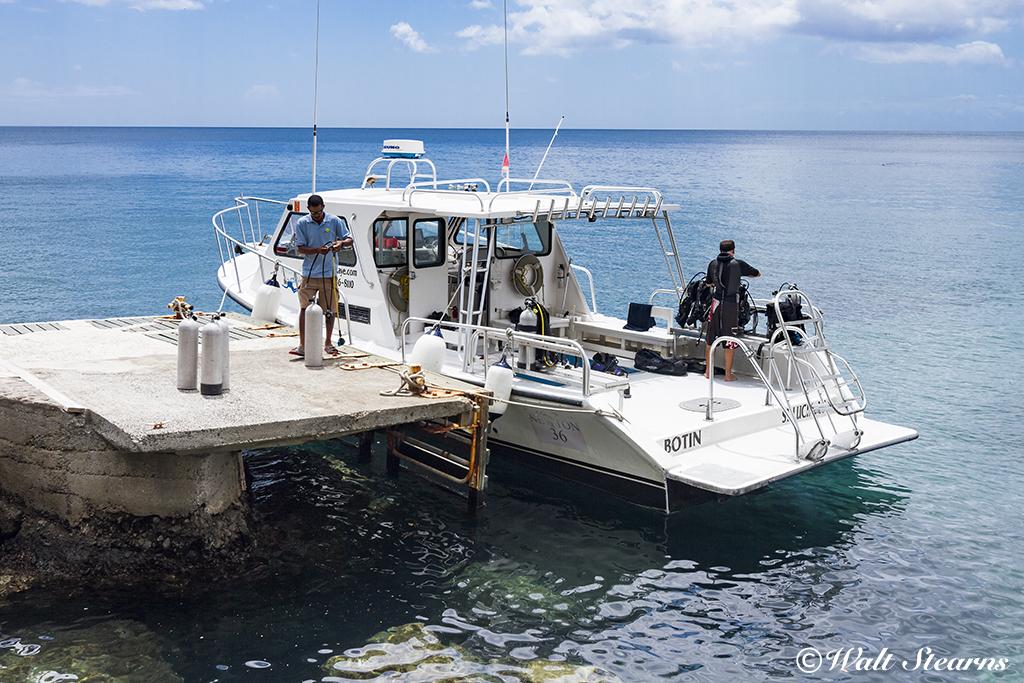 Ti Kaye Island Divers Dive Boat