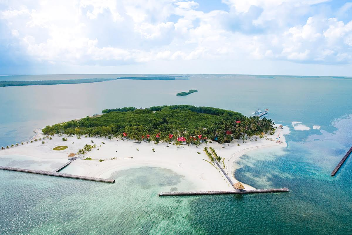 An aerial view of Turneffe Island Resort
