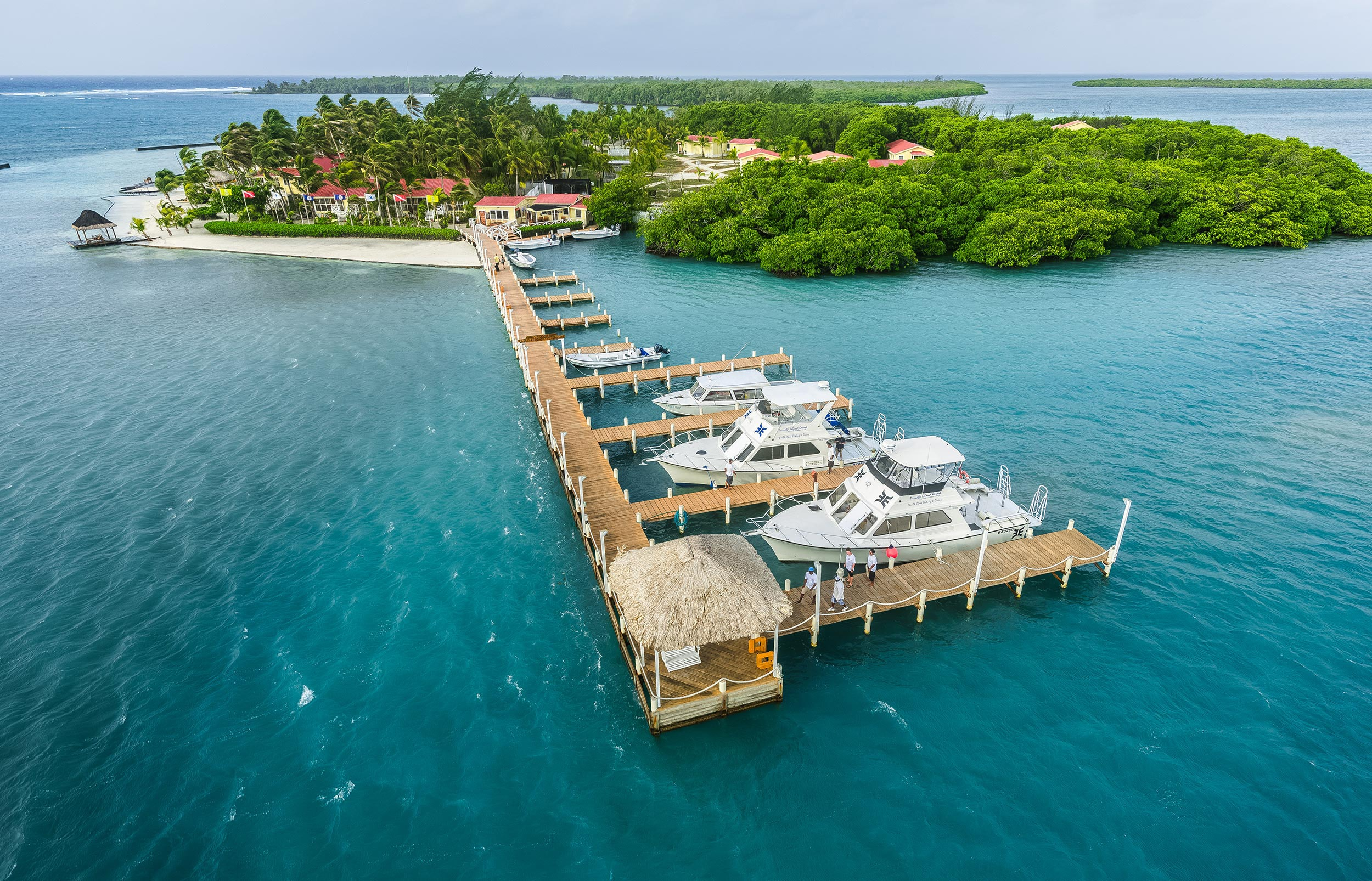 The dive center is located at the base of the resort's main dock, where it is just a short walk away from guest rooms.