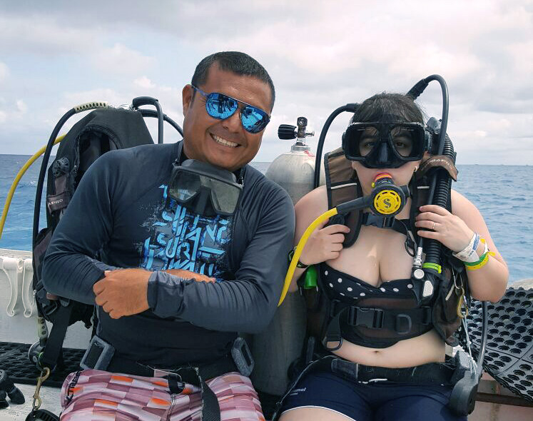 My Dive Instructor, Victor and I