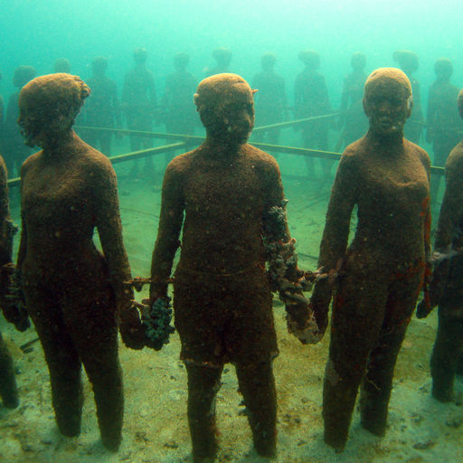 The Molinere Underwater Sculpture Park features a collection of ecologically friendly underwater contemporary art that will eventually become the foundation for new corals and sponges to grow on in the waters of Grenada