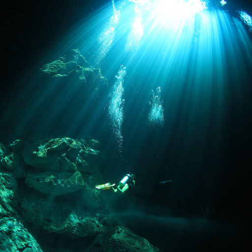 Very different adventures await those who explore one of the many clear fresh water cenotes with their caverns and caves that riddle Mexico's Yucatan Peninsula