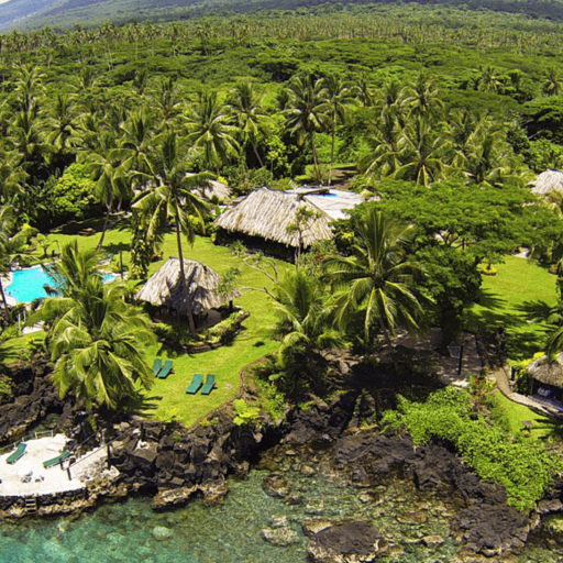 Snorkeling reefs are just a short swim from the shore at Paradise Taveuni.