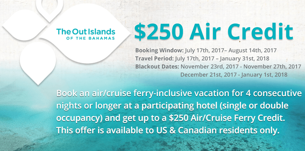 $250 Bahamas Air Credit