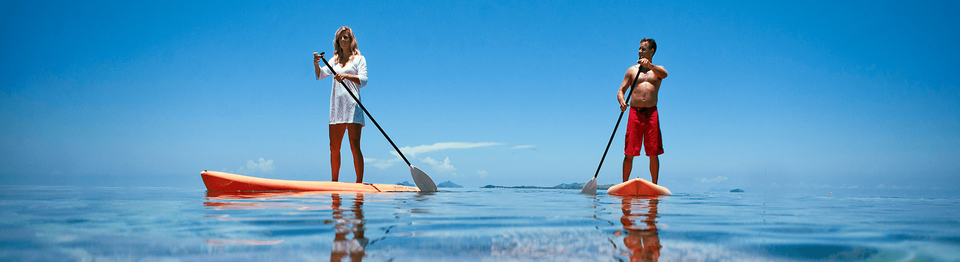 There are hundreds of bays, coves and lagoons to explore in Fiji and a standup paddleboard is an ideal way to discover them.