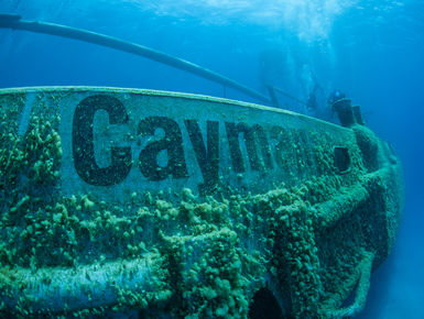 USS Kittiwake wreck in Grand Cayman