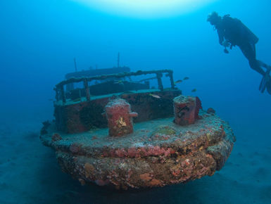 In the waters of St. Eustatius, centuries-old artifacts lie scattered among the remains of long-lost sailing ships, while modern wrecks sport colorful coral encrustations