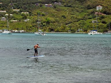 SUP in the British Virgin Islands