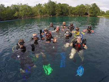 SCUBA diving in the Solomon Islands