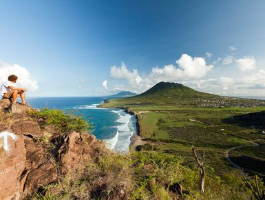 Hiking in Statia