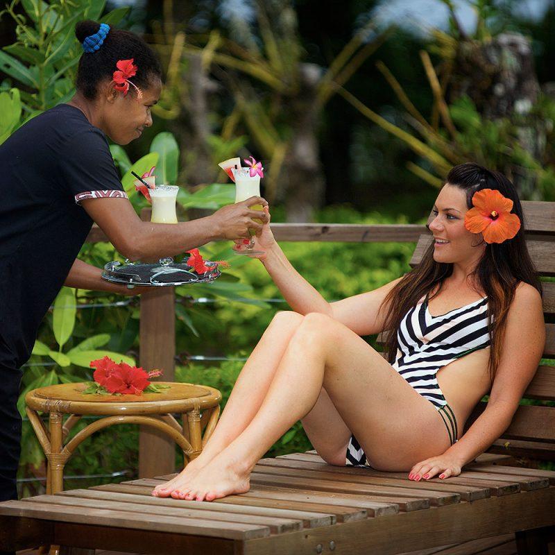 Relaxing at Tufi Dive Resort
