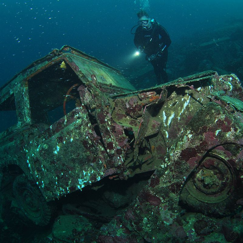 Wreck Diving at Tufi Dive Resort